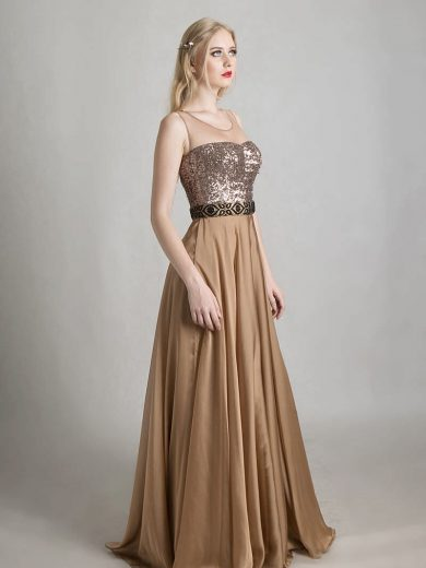 champagne-sequin-silk-dress