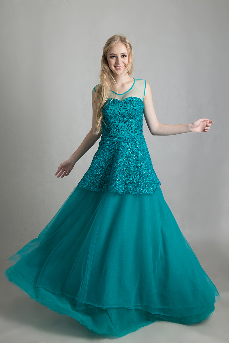 tosca embroidery tulle dress – Official Website