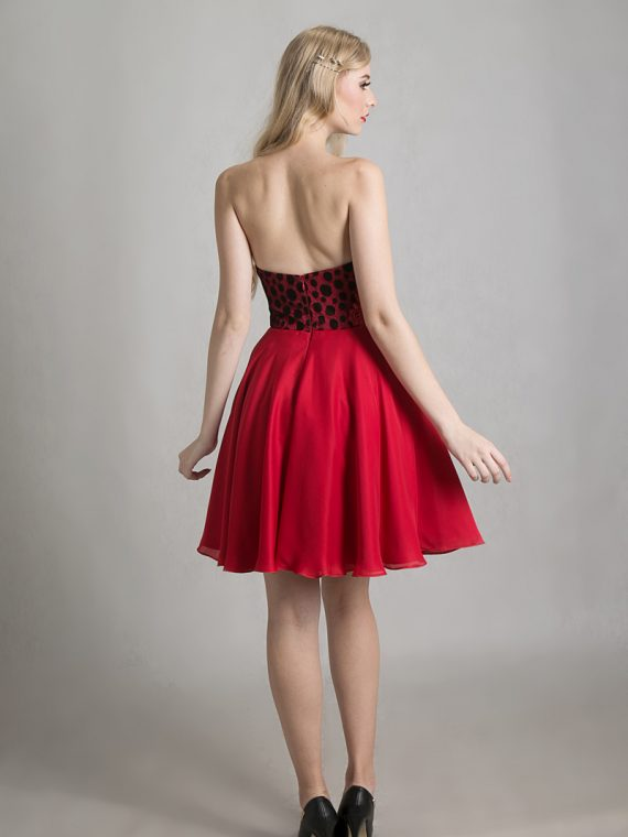 red coctail dress