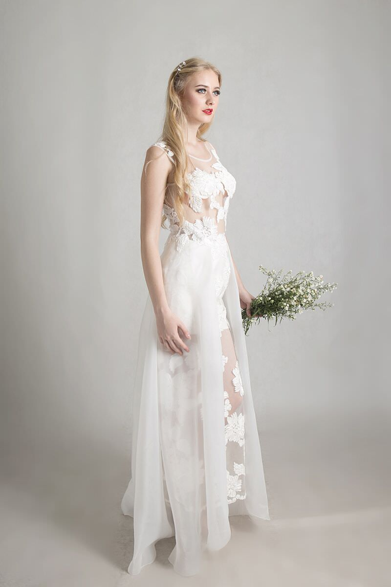 Hand Embroidered with Silk Organza Wedding Dress – Official Website
