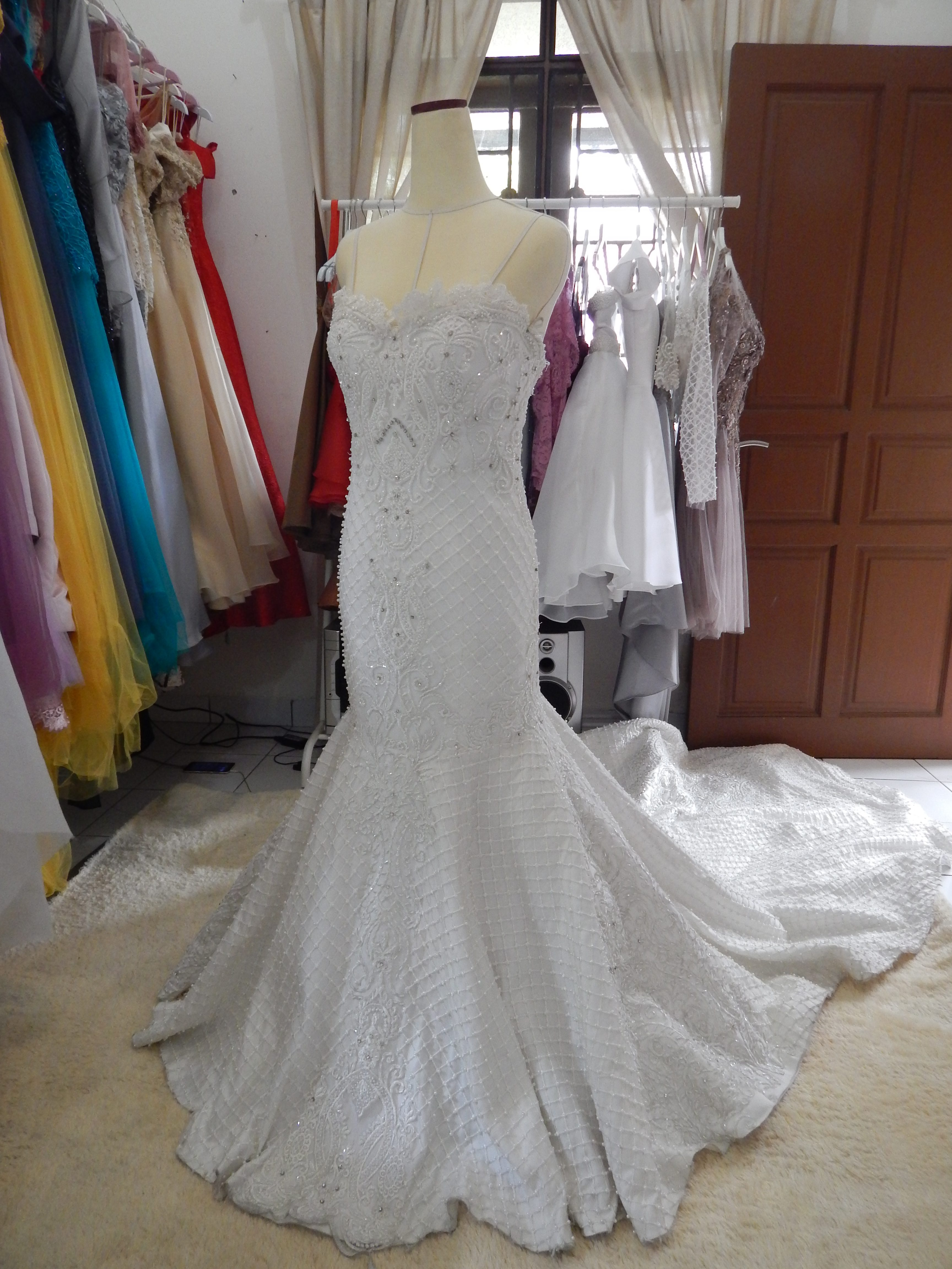 Fina Semi Mermaid Wedding Dress