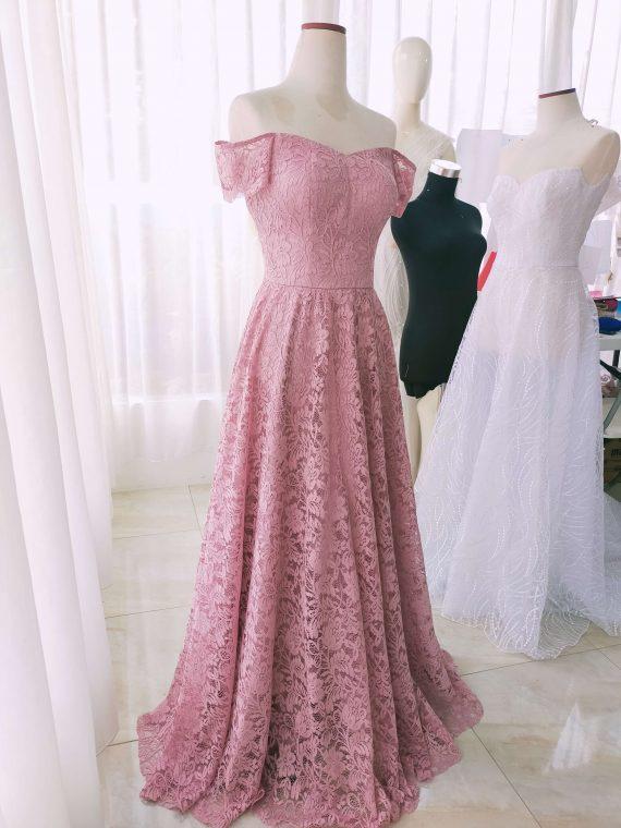 pink prom dress by ivone sulistia fashion designer