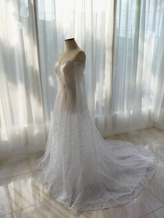 simple wedding dress by ivone sulistia