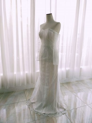 mermaid simple wedding dress for rent by ivone sulistia