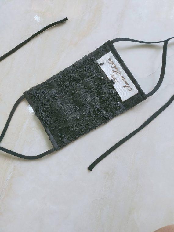 lace face mask by ivone sulistia fashion designer